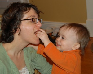 Simon Feeding Mama