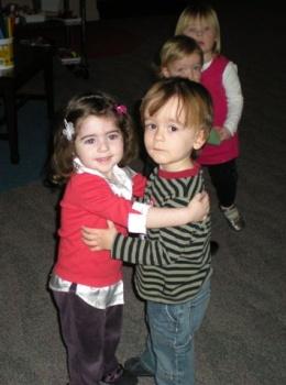 Slow dancing with Rachel